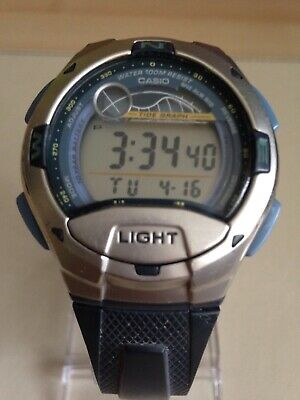 91c576819a5 CASIO W753-2AVES DIGITAL Casual Sport Watch│Moon Age-Tide Graph ...