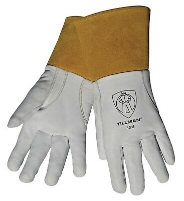 "Tillman 1338 Large 4"" cuff Top Grain Goatskin TIG Welding Gloves"
