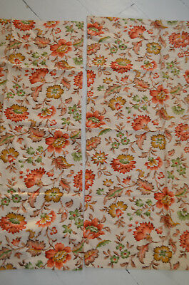 Pair 1940 Vintage Curtains Pretty Ditsy Floral Flower Fabric Crafts