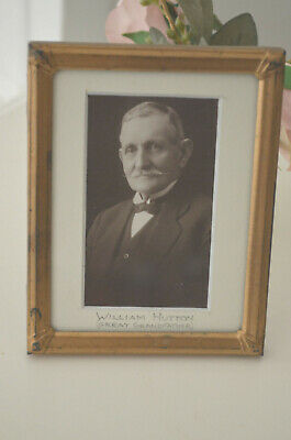 Lovely Old Gilt Frame Original Photograph Early 1900s WILLIAM HUTTON Grandfather