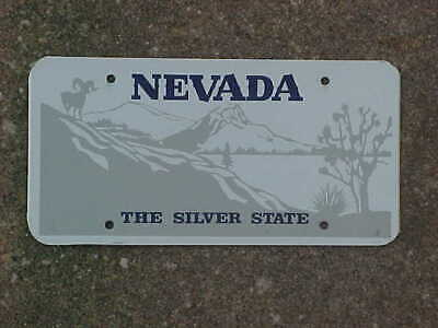 Nevada BLANK THE SILVER STATE license plate.