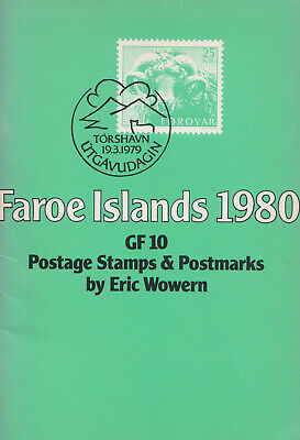 Faroe Islands 1980: Gf 10 postage stamps and postmarks by Eric Wowern