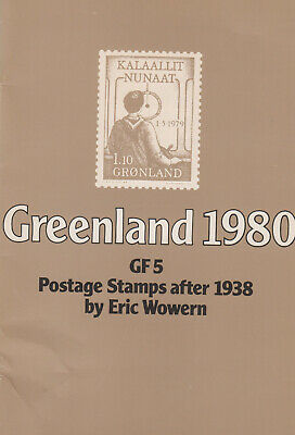 Greenland1980: GF 5 Postage Stamps after 1938 by Eric Wowern, 1979