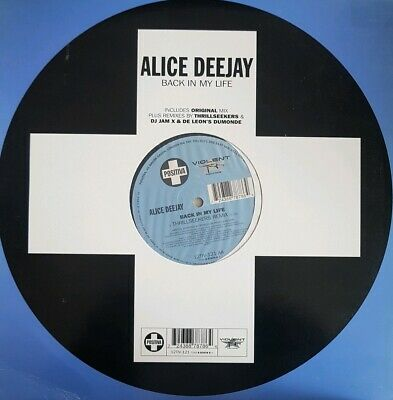 """Alice Deejay - Back in my Life - 12"""" Classic Trance Vinyl -Combine postage!"""