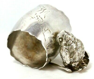 Rogers & Bro Silver Plated Chick and Wishbone Napkin Ring