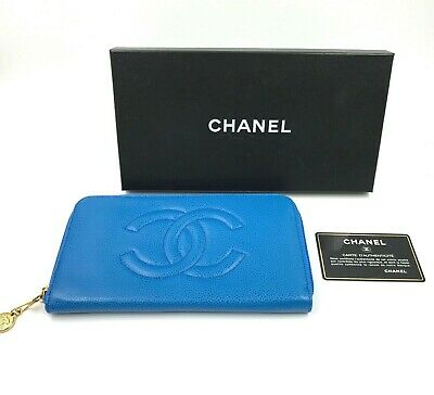 3f71e42785dced CHANEL BLACK BOY Gold Zip Around In Caviar Leather Wallet ...