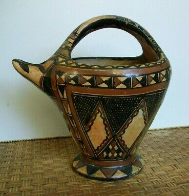 Old Kabyle Berber / Tuareg North Africa Tribal Pottery Water / Oil Vessel