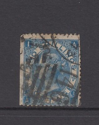 "GB QV 2s. Deep Blue SG119 Plate 1 ""AI"" Two Shillings Used 2/- Stamp"