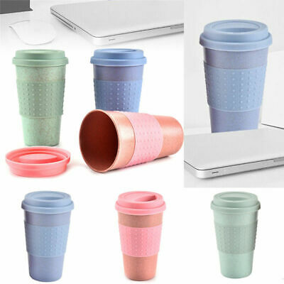 e4e076729380 Reusable Cup Mug Coffee Travel Water Takeaway Silicone Lid Portable Eco  Friendly