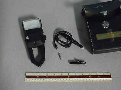 TIF Instruments Inc. Amp Voltmeter Model PP 1250 With Case and Probe