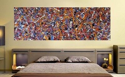 Abstract CONTEMPORARY Hand Painted ACRYLIC PAINTING on CANVAS by M.Y.