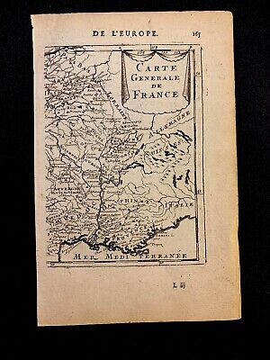 MAP OF FRANCE 1600s