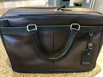 NWT Tumi Berwick Double Zip Leather Briefcase