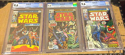 1978 Marvel Star Wars 8 9 10 Cgc 9.6 White Pages New Hope *add 2 More Slabs Free