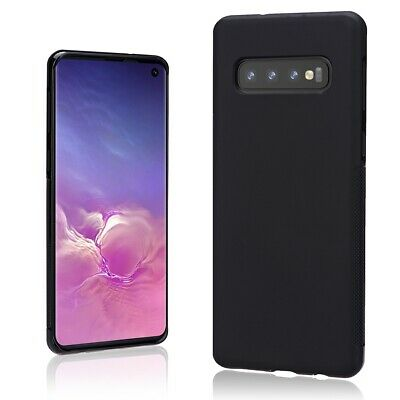 Case for Samsung Galaxy S10 Plus S9, [Support Wireless Charging] Black Thin Soft