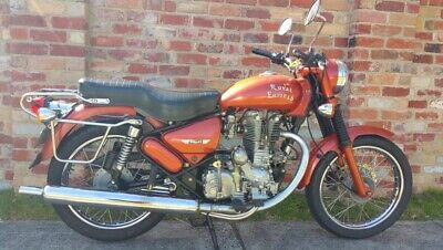 Royal Enfield, 500cc Bullet, colour tangerine, motorcycle