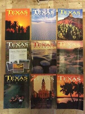 Texas Highways magazines 1998 January February March April may June July august