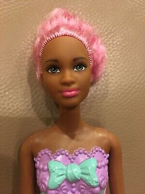 Barbie Sweetville Dreamtopia Fairy Candy Pink Hair African American Doll