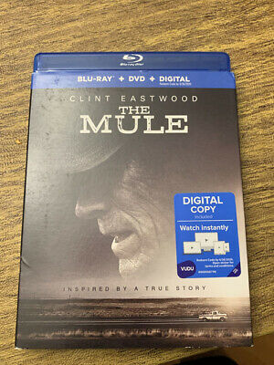 The Mule  (Blu-ray, 2019)Clint Eastwowd,, Case W/Art & Slip Cover, No DVD No Dig