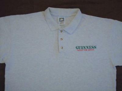 Vintage Guinness Beer Gaelic For Genius Embroidered Polo Shirt St Patricks Day L