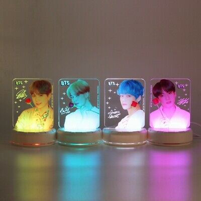 Kpop BTS Map of The Soul: Persona 7 Colors LED Night Light Table Desk Lamp Gift