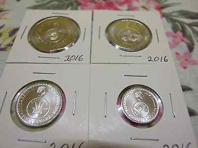 2016 changeover 5 cent 10 cent 20 cent & 50 cents UNC coins from mint roll, bags