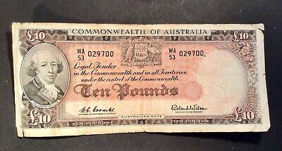 Australian Pre Decimal 10 Pound Note Coombs Wilson VG Commonwealth Of Australia