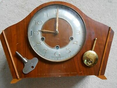 Smiths Mantle Clock. As found with pendulum and Smiths Key.