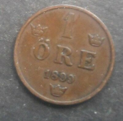 Sweden  1899  Ore Coin Nice  better   Grade