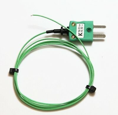K type wire thermocouple sensor 0.2mm PTFE twin flat cable