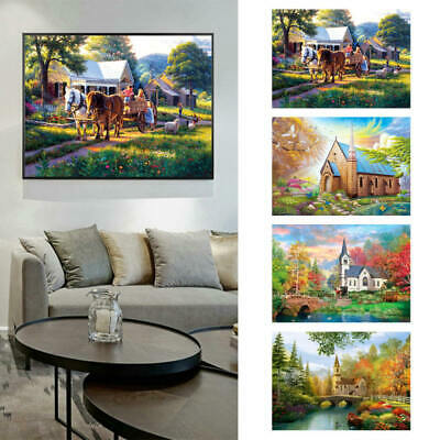 Village House Full Drill 5D Diamond Painting Embroidery Cross Stitch DIY  S5sd
