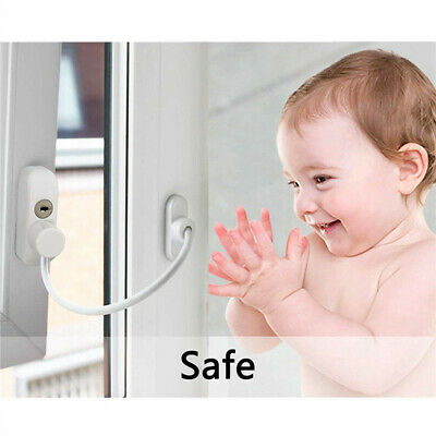 Child Baby Security Window Cable Lock with Keys Baby Infants Safety Device