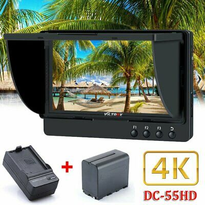 "Viltrox DC-55 HD 4K 5.5"" HDMI Video Field Monitor with Battery For DSLR Camera"