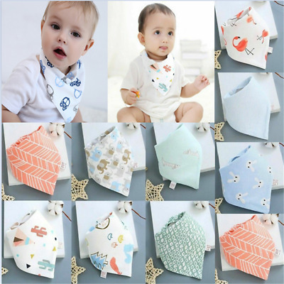 1PC Infant Baby Boy Girl Cotton Bandana Bibs Feed Saliva Towel Dribble Triangle
