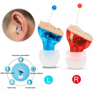 Invisible Adjustable Hearing Aid Sound Voice Amplifier Enhancer CIC Mini  In-Ear
