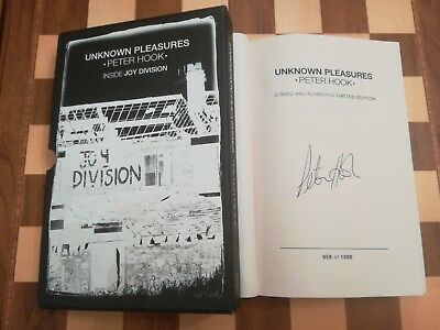 Peter Hook Unknown Pleasures SIGNED NUMBERED SLIPCASED LIMITED EDITION 1st/1st