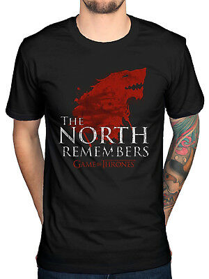 Official Game Of Thrones The North Remembers T-Shirt Jon Snow Stark Tyrell Arryn