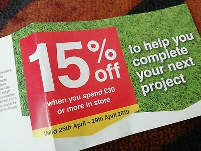 wickes voucher 15% off