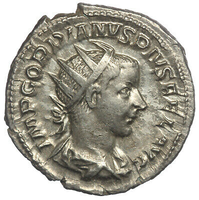 ROMAN SILVER COIN ANTONINIANUS GORDIAN III IN MILITARY DRESS (RIC 93) 4,08g 22mm