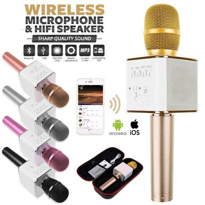 Wireless Microphone Speaker Bluetooth 4.0 KTV Karaoke Q9 iPhone Samsung Android