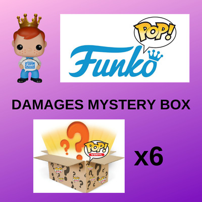 6x FUNKO POP DAMAGES MYSTERY BOX - 9/10 CONDITION AMAZING VALUE PHOTOS ATTACHED