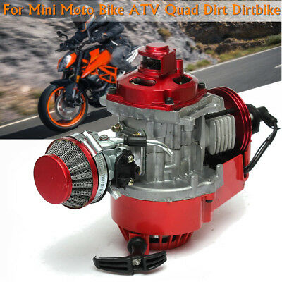 Performance Racing Red 49cc 2 Stroke Engine Mini Motor ATV Pocket Quad Dirt Bike