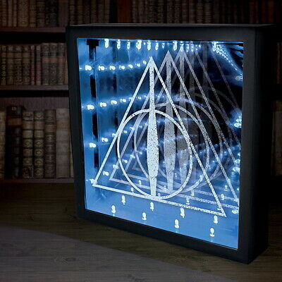 OFFICIAL Harry Potter Deathly Hallows Logo Symbol Infinity Light Lamp (NEW)