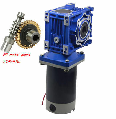 300W Worm Gear Reducer Gearbox Electric RV Gear Motor High Torque DC12V/24V