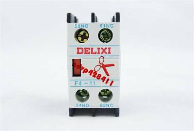 NEW Delixi  Auxiliary Contact F4-11 For CJX2 CJX4 LC1 Series Contactor