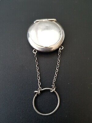 Antique Solid Silver Small chatelaine Stirling silver Chain C1915 Adie & lovekin