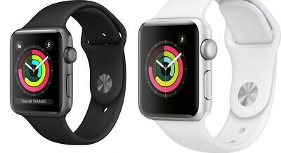 Apple Watch Series 3 GPS Space Gray/Silver Case 38mm/42mm Black/White Sport Band