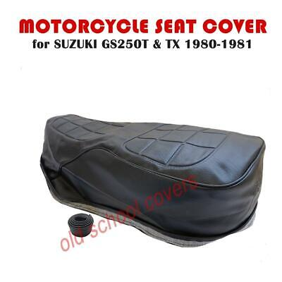 Suzuki Gs250 T Tx 1980-81 Seat Cover With Strap & Embossed Logo Gs 250 Gs250T