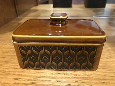 Retro Hornsea Brown 'Heirloom ' Butter Dish