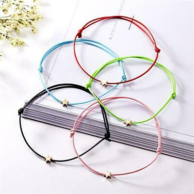 Lovely Star Lucky Red Rope String Charm Bracelets Friendship Gift Jewelry C